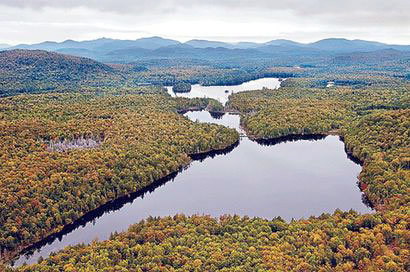 The Essex Chain of Lakes. Photo: Carl Heilman II, courtesy Adirondack Chapter of The Nature Conservancy via <em>Adirondack Daily Enterprise</em>