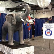 The GOP's elephant mascot at Friday's convention