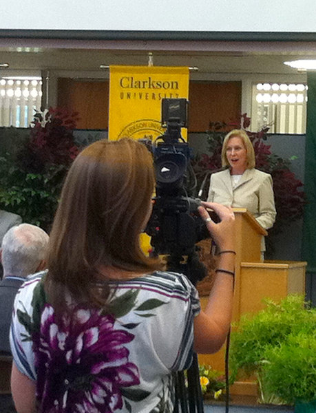 Sen. Kirsten Gillibrand spoke at Clarkson University in Potsdam, N.Y.