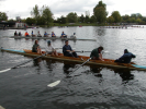 Getting ready: Some of the rowers in the Grateful Oars club at the Head of the Rideau in 2003 (photo: Grateful Oars)