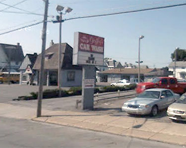 The car wash in Herkimer where two people were killed Wednesday. Photo: Google street view