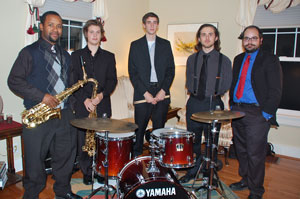 Drew Coles, Taylor Clay, Kevin Urvalek, Max Howard and Joseph Goehle will play for a ceremony honoring Wynton Marsalis.
