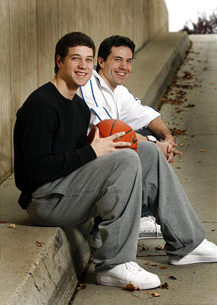Jimmer Fredette (foreground) and TJ Fredette (Source: TJ Fredette website)