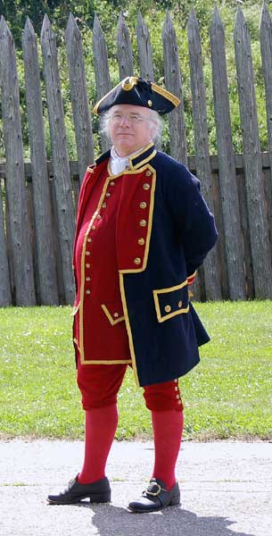 Michael Whittaker in his Harbor Master uniform.