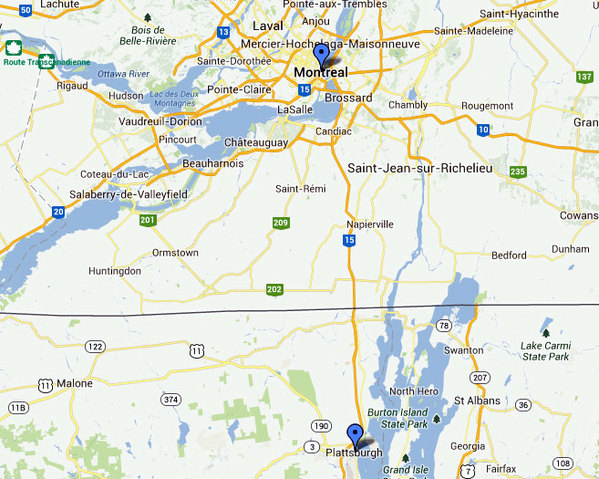 Ny State Map Google.Is Plattsburgh Montreal S U S Suburb Ncpr News