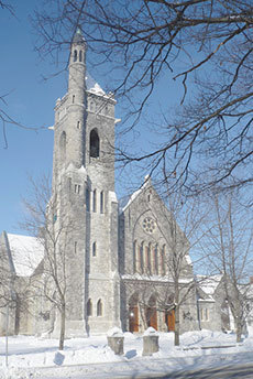 """North Congregational Church, St. Johnsbury, VT. Photo: <a href=""""http://www.flickr.com/photos/34674104@N02/504064943/"""">Dominic Labbe</a>, Creative Commons, some rights reserved"""