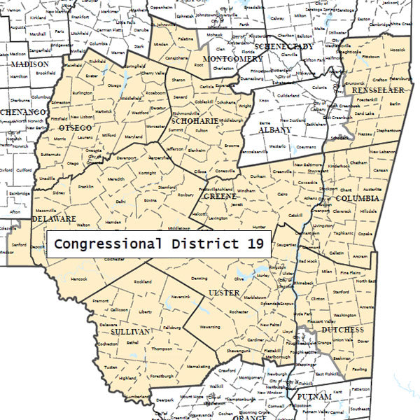 Map Of New York 19th Congressional District.Battle For Hudson Valley House Seat Expected To Be Intense Ncpr News