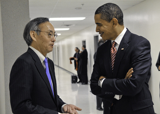 Secretary of Energy Steven Chu meeting with President Obama. Photo: Charles Watkins, White House photographer