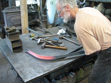John Scarlett at work in his shop in Rossie. Photo courtesy John Scarlett