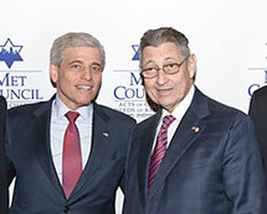 "William Rapfogel (left), with Speaker Silver. Photo via <a href=""http://www.metcouncil.org/site/PageServer"">Metropolitan Council on Jewish Poverty</a>"