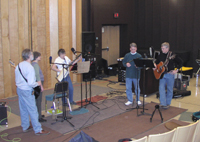 Stringfolks getting ready for their UpNorth Music session in Canton.