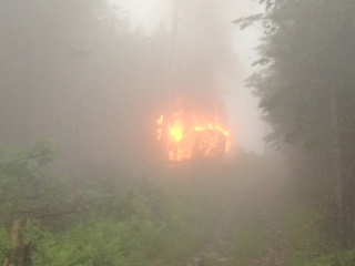 Lightning strikes triggered fire on Lyon Mountain. Photo: Mountain Lake PBS
