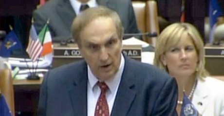 "Vito Lopez, speaking on a bill in New York's Assembly. Photo: <a href=""http://assembly.state.ny.us/mem/Vito-J-Lopez/"">New York State Assembly</a>"