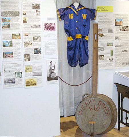 Some of the items on display in the bicentennial exhibit at the Warrensburg Museum of Local History.  Photo: Andy Flynn