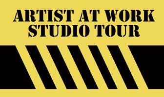 Watch for the bold yellow and black Studio Tour signs