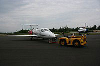 A plane on the tarmac at Adirondack Regional Airport in Lake Clear