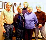 Adirondack Artists Guild members: Peter Shrope, Diane Leifheit,   Barry Lobdell, Eleanor Sweeney and Sandra Hildreth.