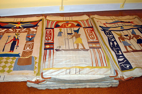 An Egyptian tent that was used at the Adirondack League Club in the early 20th century. Photo Andy Flynn & Adirondack Attic: Dr. Warneru0027s Egyptian tent   NCPR News