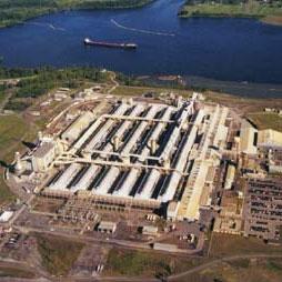 Alcoa's Massena East smelter plant