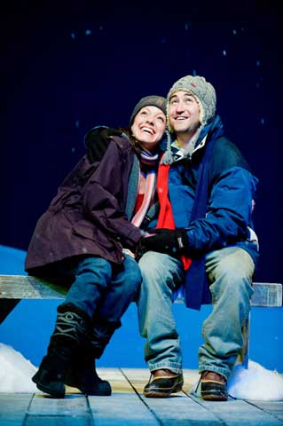 Abbey Lee and Marty Keiser in <i>Almost, Maine</i>. Photo: Buff Lindau.