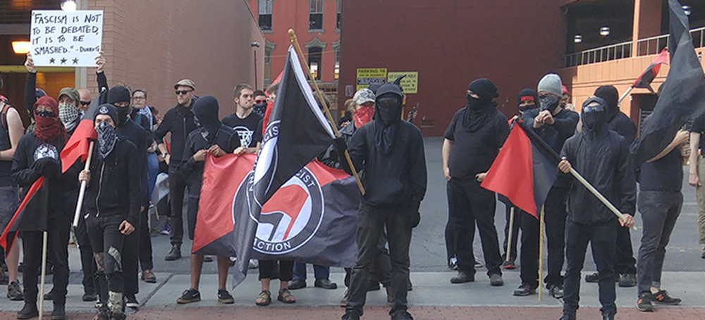 """""""Antifa"""" willing and sometimes eager to trade blows with ..."""