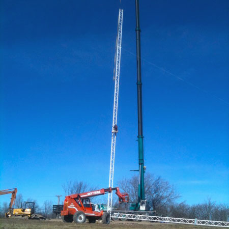 NCPR's new tower going up. Photo: Ellen Rocco