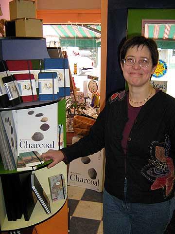 Susan Olsen's new shop supplies artists in Saranac Lake