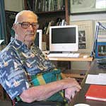 Arthur C. Clarke in 2005. Photo: Amy Marash; source Wikipedia