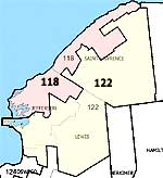 "118th, or ""river"", and 122nd, or ""foothills"", assembly districts."