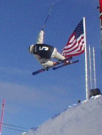 Freeskier goes airborne