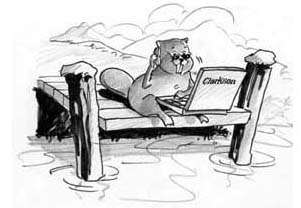 Clarkson University has adopted the wi-fi equipped beaver as a symbol of the new broadband economy (Source:  Clarkson)