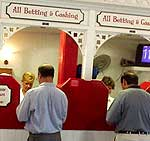Placing bets in Saratoga Springs...
