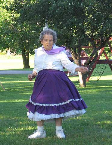 Beulah Walrath dancing to country swing in Oxbow