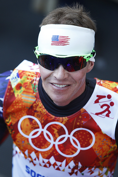 Portrait of USA's Billy Demong, #31, after he competed in the Sochi Olympics Nordic Combined Normal Hill/10km 2/12/14. Photo: © Nancie Battaglia