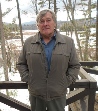 Bob Glennon at his home in Ray Brook (Photo:  Brian Mann)