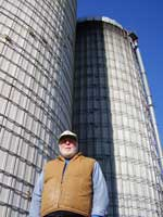 Bob Andrews and his silos, topped off for winter.