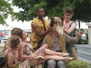 Queen Titania, the fairies, and Bottom - with his donkey's head - in <i>A Midsummer Night's Dream</i>.