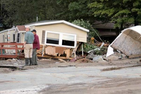 A home wrecked by Tropical Storm Irene in the town of Keene. Photo: Susan Waters