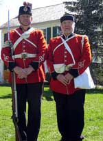 Drill Corporal Lindsey Penny and Company Clerk Denis Savage.