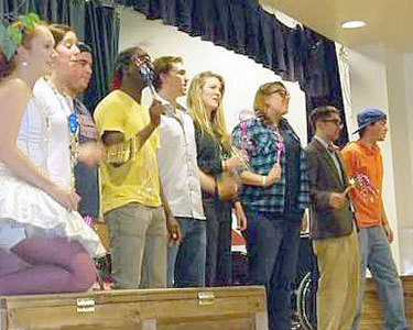 "The St. Lawrence University cast of ""Have You Filled Your Bucket Today?"" at a performance in Canton in 2011. Photo: Ann Marie Gardinier Halstead"