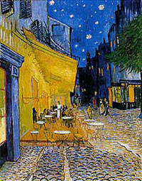 <i>The Café Terrace at Night</i>, <br />Vincent Van Gogh, 1888