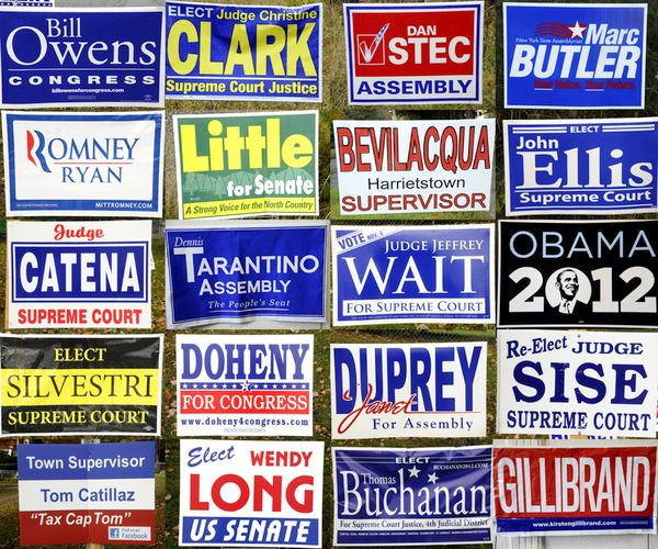 An Election 2012 Who's Who In Yard Signs