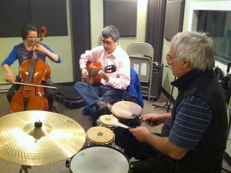 Caramelo Trio: Beth Robinson, Oscar Sarmiento, Stephen Farina.  Photo: NCPR
