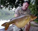 American Carp Society's David Moore lands a big one