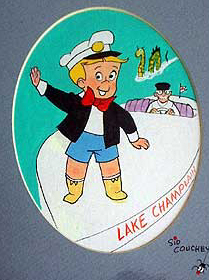 Richie Rich was one of the characters that Couchey drew for Harvey Comics (Photos:  Brian Mann)