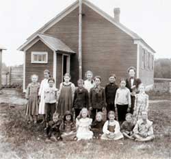 A country schoolhouse in Stockholm NY, (courtesy Stockholm Historical Association)