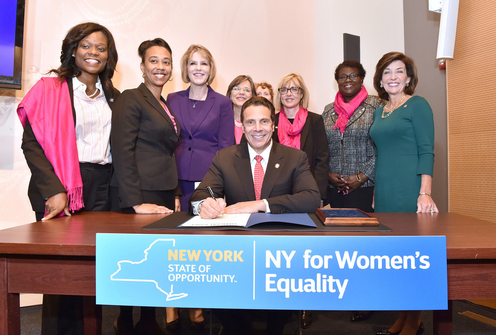 NY governor signs new laws to fight gender discrimination