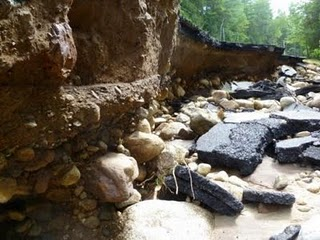 What lies beneath Rt. 73: an old riverbed. Photo: Curt Stager