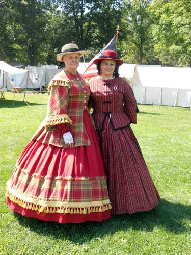 Betty Dochstader and Maria Hull helped organize a Civil War fashion show in Massena.