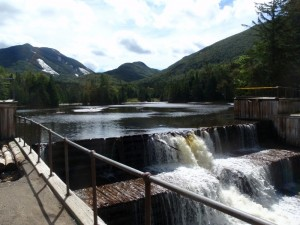 Marcy Dam in the Adirondacks was severely compromised by Tropical Storm Irene last year.